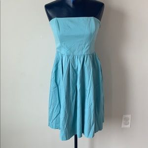 Zara woman strapless fit and flare dress